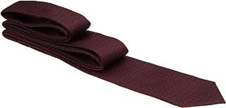 Gravata vermelho vinho com traços pretos