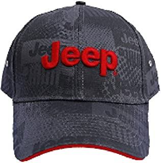 Jeep Charcoal Watermark Cap, Gray, Adjustable