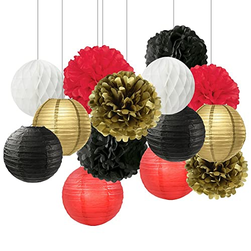 Black And Gold Wedding Decorations: Red Black Gold Wedding Decorations: Amazon.com