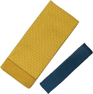 [キョウエツ] 角帯セット 日本製 無地感 柄お任せ 角帯+腰紐2点セット(角帯、腰紐)