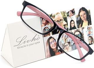 Livho Reading Glasses Blue Light Blocking, Lightweight Computer Readers Anti Glare/Eye Strain/UV Ray Glasses for Men Women