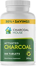 Activated Charcoal Tablets Chewable - 365 USP Certified Tablets by Charcoal House