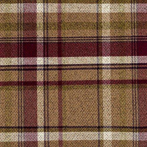 McAlister Textiles Heritage   Stoff als Meterware im Tartan-Muster kariert in Maulbeere Violett 140cm Breite   Per halber Meter   gewebtes Muster Schottenkaro