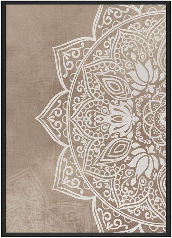 OKYQZ Mandala Beige Mur Art Affiches Imprimer Boho Couleur Neutre Toile Peinture Salon Chambre Nordique Maison Art d/écor 30x50 cm x2 sans Cadre