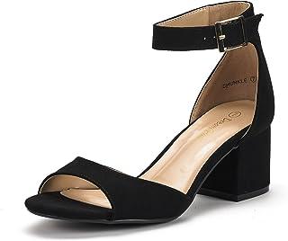 c5fd64b2ea3 DREAM PAIRS Women s Chunkle Low Heel Pump Sandals Ankle Strap Dress Shoes