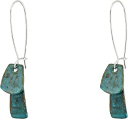 Patina Long Drop Earrings