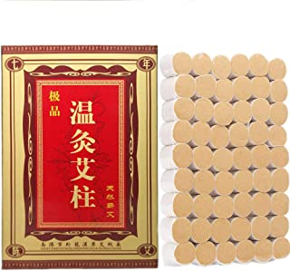 54 Pcs Moxa Sticks Pure Handmade Moxibustion Rolls Natural Herbal Chinese Wormwood Mugwort Artemisia Column 7-Years Purity 40:1 Ratio