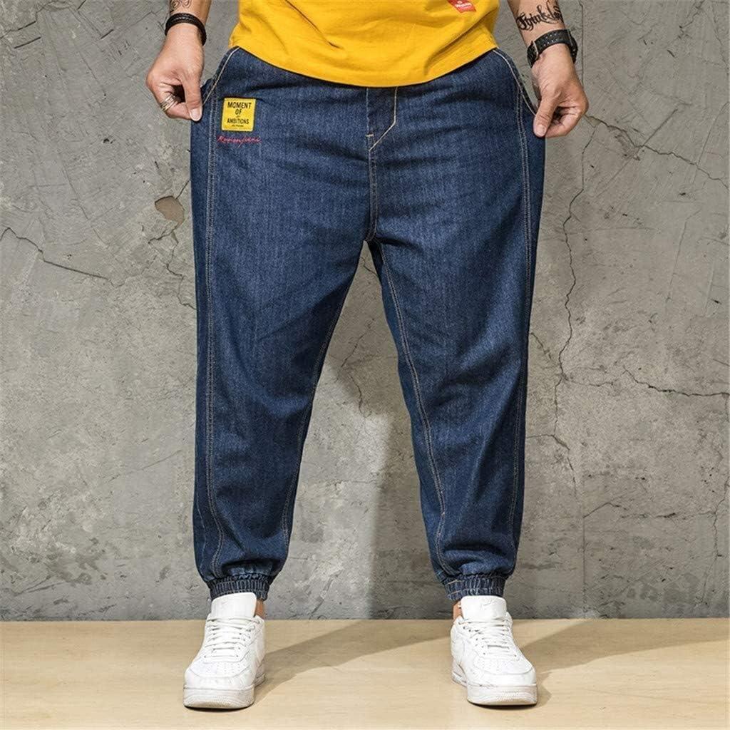 Surdimensionné Jeans Basic Slim Fit Étirent Hommes Vêtements de fête Pantalon Jeans en Denim Designer Chino Extensible Bootcut Armée Originale De Pantalons Marine 4
