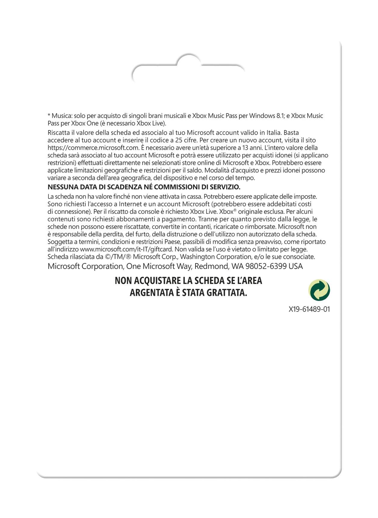 Microsoft - Xbox Live Tarjeta Regalo 10 Euro (Xbox): Amazon.es ...