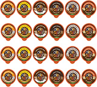 Crazy Cups Decaf Flavored Coffee, Flavored Lovers Variety Pack, Single Serve Cups for Keurig K Cup Coffee Maker, 24 Count
