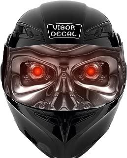 V04 Robot VISOR TINT DECAL Graphic Sticker Helmet Fits: Icon Shoei Bell HJC Oneal Scorpion AGV