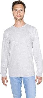 American Apparel Men Fine Jersey Crewneck Long Sleeve T-Shirt