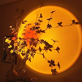 Aunus Sunset Lamp,Sunset Projection Lamp,Sunset Light Coucher de Soleil, 180 °Rotation Sunset Projector, Luminaires LED Ni...
