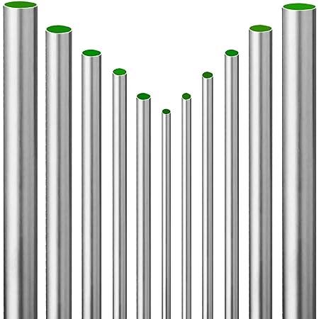 Edelstahl Rundrohr V2A /Ø 54x2mm 20cm auf Zuschnitt L/änge 200mm K240