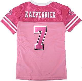09e61546c Outerstuff Colin Kaepernick NFL San Francisco 49ers Fashion Pink Jersey  Youth Girls (4-16