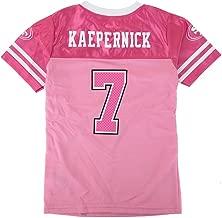 Outerstuff Colin Kaepernick NFL San Francisco 49ers Fashion Pink Jersey Youth Girls (4-16)
