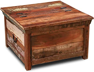 Home Furniture Diy Wooden Chest Trunk Blanket Box Coffee