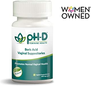 pH-D Feminine Health, First Woman Owned Boric Acid Vaginal Suppositories, Made in USA,..
