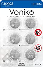 VONIKO 3 Volt CR2025 Battery 6 Pack – CR 2025 Battery – CR 2025 Lithium Coin Batteries – Child-Resistant Packaging Button Cell, 5 Years Shelf Life
