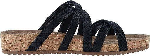 Black Matte Snake Print Leather/Cork Wrap