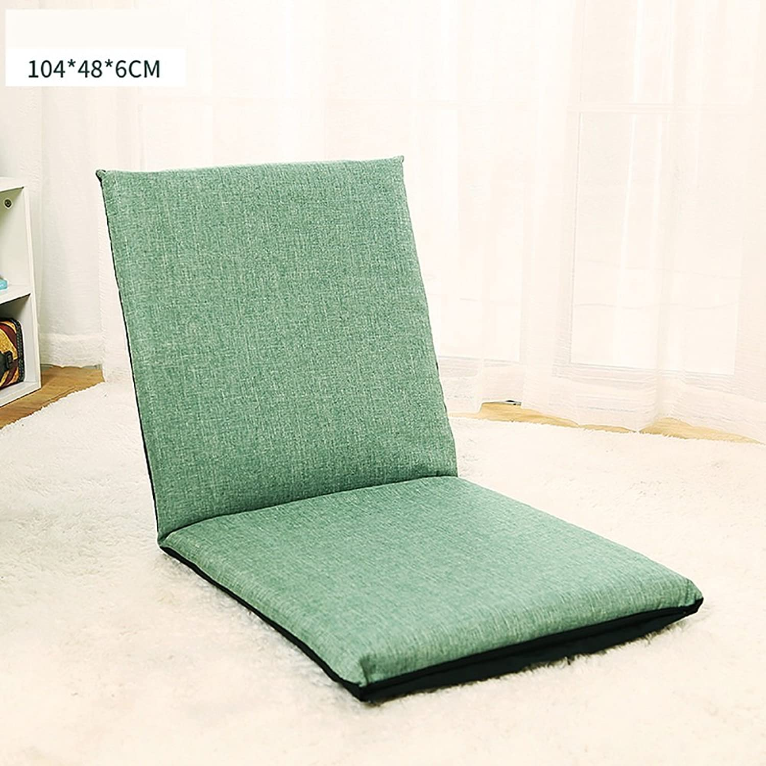 Comfortable Sofa, Bedroom Folding Sofa Bed Backrest Chair Single Chair Cushion Pastoral Style Floor Sofa Chair (color   2 , Size   78  38  5cm)