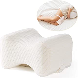 Xcellent Global Memory Foam Knee Pillow with Washable Cover, for Side Sleepers, Hip Leg Pillows for Sleeping, Spacer Cushi...