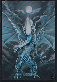 (100)Yu-Gi-Oh Card Protecter Blue-Eyes White Dragon Card Sleeves 100 Pieces 63x90mm #37