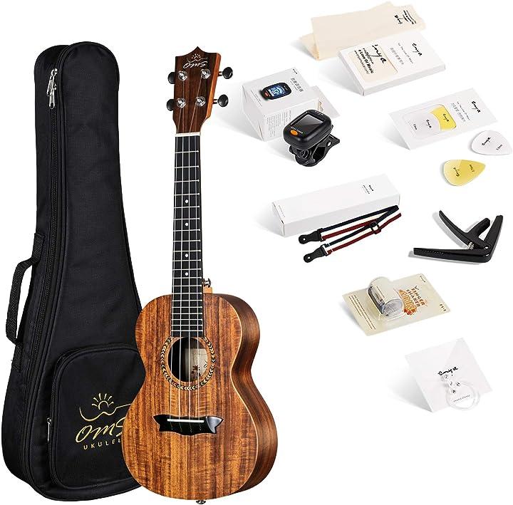 Enya ukulele concerto oms-04 23 pollici con corpo in koa laminato B076D569DR