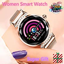 Fashion Smart Watch for Women, Female Blood Pressure Monitor Heart Rate Fitness Tracker Health Bracelet Compatible for iPhone Samsung Android iOS Phone, Best Women smartwatch, Gift for her
