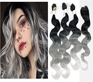 Ombre Color Synthetic Body Wave Hair Bundles18