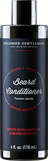 Beard Growth and Thickening Conditioner - with Organic Beard Oil - Beard Softener for Grooming - for Younger Looking Beard - for Facial Hair Growth (4oz) - Made in US