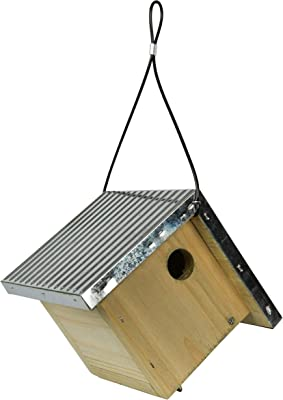 Wild Wings WWGH1 Galvanized Weathered Cedar Wren House