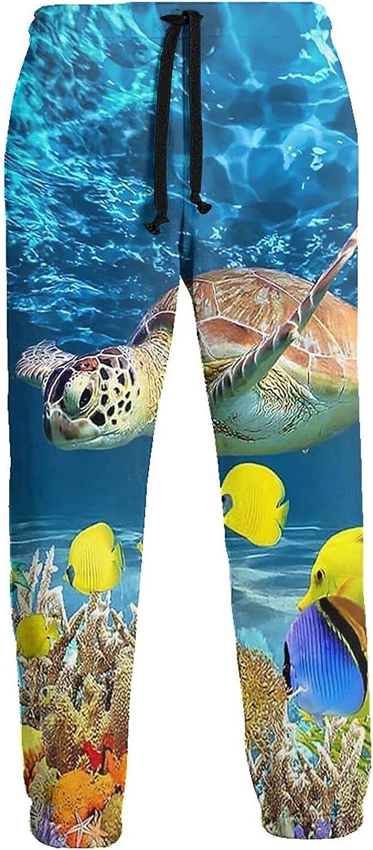 Active Sweats Jogger Pants Turbot Sea Turtle Fish Running Joggers Casual Sweatpants for Men Women