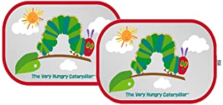 Eric Carle The Very Hungry Caterpillar 2 Piece Car Sun Shade UV Protection, Black