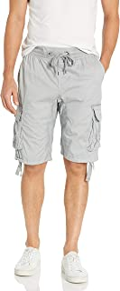 Southpole Big and Tall Men's Jogger Shorts with Cargo Pockets in Solid and Camo Colors, Light Grey(New), 3X-Large