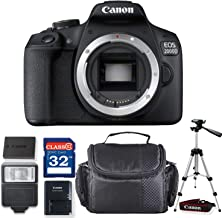 Canon EOS 2000D / Rebel T7 DSLR Camera (Body Only) + Professional Accessory Bundle