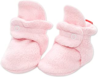 Zutano Cozie Fleece Baby Booties, Unisex, For Newborns and Infants