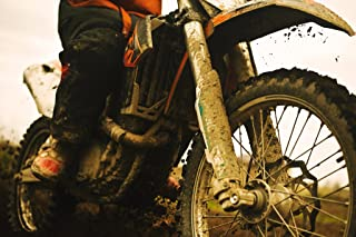 Close Up of Muddy Dirt Bike Photo Photograph Cool Wall Decor Art Print Poster 18x12