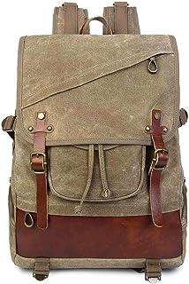 Neuleben Vintage Rucksack Damen Herren Wasserdicht gewachst Canvas Rucksäcke Daypack Backpack Reiserucksack für Uni Reise Outdoor Braun