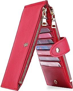 Freie Liebe Wallets for Women RFID Blocking Slim Bifold Card Organizer Wallet with Zipper Pocket
