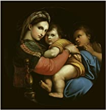 Music Poster Raphael - Madonna Della Sedia Print 60x60cm