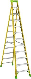 Louisville Ladder 12 ft FXS1412HD 2-in-1 Duty Rating Shelf Fiberglass Cross Step Ladder 375 lb Type IAA 12' Yellow