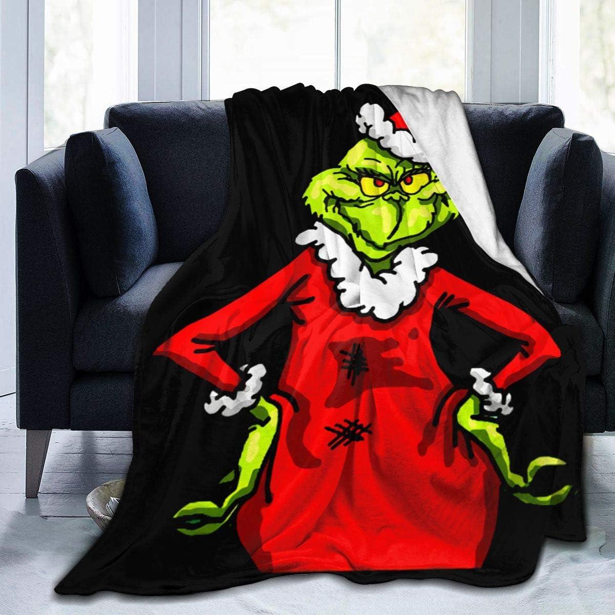 未使用 LMHBLTOP Grinchy Grinch Fleece Flannel Throw Ultra-Soft 本店 Blanket