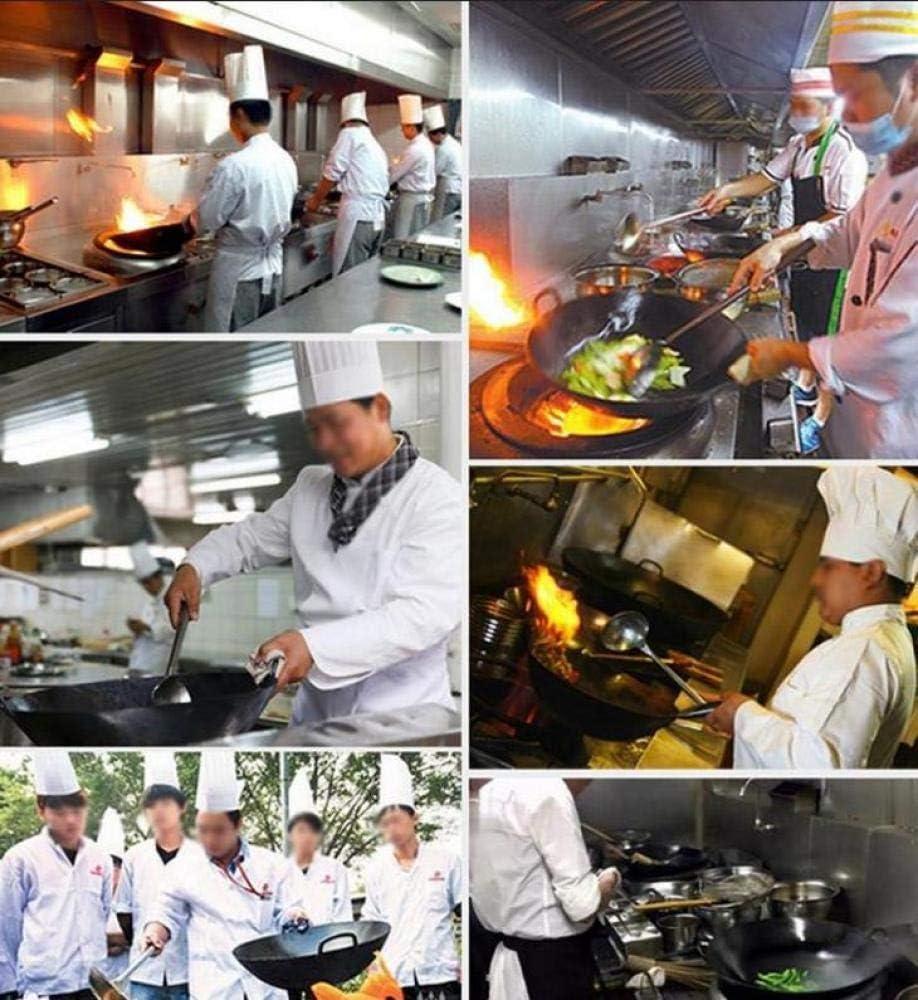 AMYZ Woks,Poêles à Frire Professionnelles Poignée De Wok en Fer Non Revêtu,Wok De Cuisine,36CM 32cm