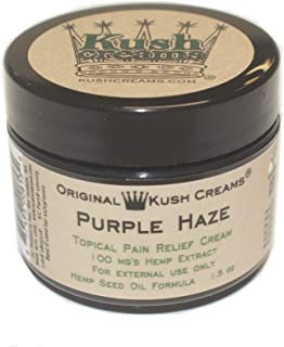 Kush Creams - Purple Haze - Emu Oil & Hemp Oil Infused w/ 30+ Herbal Ingredients - Topical Pain Relief Cream w/Aromatherapy - Award Winning - Doctor Recommended - Lab Tested - 1.5 oz Jar