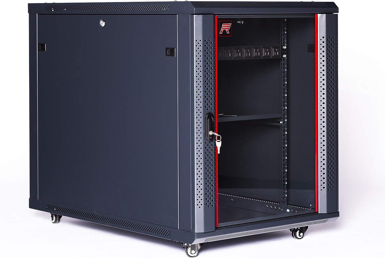 Sysracks 12U 35 Inch Depth Server Rack Cabinet Enclosure Fully Equipped for Server Equipment Fully Lockable Network IT 19 Inch Enclosure Box