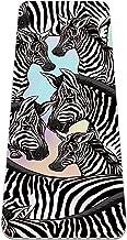 Yogamat met draagriem en uitlijnmarkeringen, antislip en gemakkelijk te reinigen, biedt perfecte demping, Zebra patroon