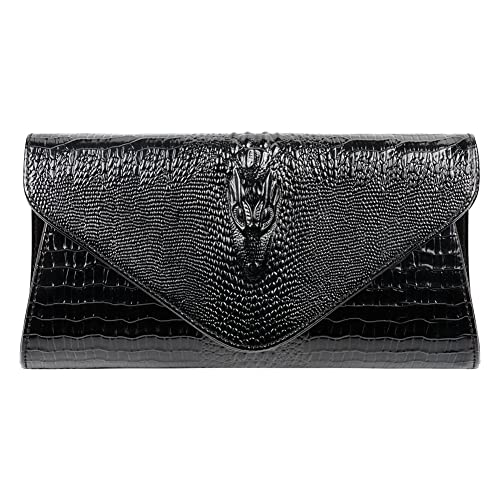 1eed06ae73 Bidear Envelope Clutch Purse Genuine Leather Party Handbag Evening Bags for  Women