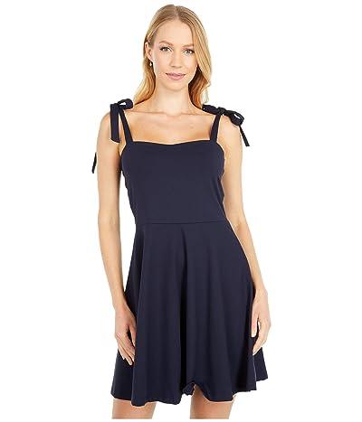 Susana Monaco Tie Strap Flare Dress (Midnight) Women