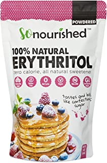 Powdered Erythritol Sweetener - 1:1 Sugar Substitute, Keto - 0 Calorie, 0 Net Carb, Non-GMO